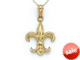 14kt Yellow Gold Fleur De Lis Pendant Necklace - Chain Included style: CG17370