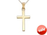 14k Yellow Gold Polished Cross Pendant Necklace - Chain Included style: CG17520CD