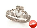 14kt White Gold Claddaugh Ring style: CG20211