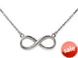 925 Sterling Silver Infinity Pendant Necklace - 16/18 Inch Adjustable Chain Included style: CG70108