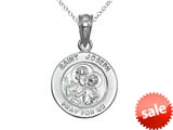 Finejewelers 925 Sterling Silver Rhodium Small St. Joseph Medal Pendant Necklace Chain Included style: CG71024