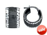 Stellar White™ Black Rhodium Huggies Earrings style: SE1076