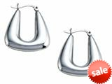 Stellar White™ Rhodium Polished Hollow Hoop Earrings style: SE1625