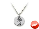 Family Values™ 925 Sterling Silver Mom with Plants Disc Pendant Necklace - Chain Included style: SS5004