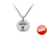 Family Values™ 925 Sterling Silver Weightlifter Disc Pendant Necklace - Chain Included style: SS5018