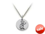 Family Values™ 925 Sterling Silver Executive Dad Disc Pendant Necklace - Chain Included style: SS5019