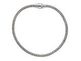 Stellar White™ Rhodium Mesh Bracelet Magnet 7.5 Inches style: SS3230