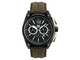 Andrew Marc Men`s G III Racer Black Case With Browm Strap Chronograph Watch style: A10704TP