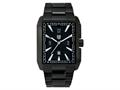 "Andrew Marc Men""s Club Hipster Black 3-Hand Date Watch"