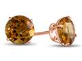 Finejewelers 14k Rose Gold 7mm Round Citrine Post-With-Friction-Back Stud Earrings