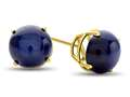 7x7mm Round Created Star Sapphire Post-With-Friction-Back Stud Earrings