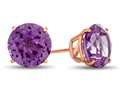 Finejewelers 10k Rose Gold 7mm Round Simulated Alexandrite Post-With-Friction-Back Stud Earrings