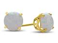 Finejewelers 10k Yellow Gold 7mm Round Created Opal Post-With-Friction-Back Stud Earrings