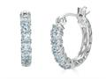 Finejewelers Sterling Silver Aquamarine Small Hoop Earrings