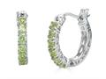 Finejewelers Sterling Silver Peridot Small Hoop Earrings