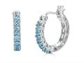 Finejewelers Sterling Silver Blue Topaz Huggie Small Hoop Earrings