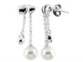 6mm Drop Freshwater Cultured Pearl Post-With-Friction-Back Earrings