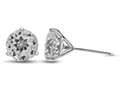 Finejewelers 10k White Gold 3-Pronged 7mm Round White Topaz Post-With-Friction-Back Stud Earrings