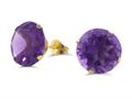 Finejewelers 10k Yellow Gold 6.00 cttw 10mm Round Amethyst Stud Earrings