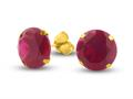 Finejewelers 10k Yellow Gold 8.00 cttw 10mm Round Created Ruby Stud Earrings