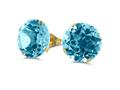 Finejewelers 10k Yellow Gold 8.00 cttw 10mm Round Sky Blue Topaz Stud Earrings