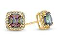 6x6mm Cushion Mystic Topaz Post-With-Friction-Back Earrings
