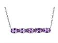 Finejewelers Sterling Silver Necklace Pendant with 5 Oval Amethyst Stones