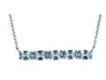 Finejewelers Sterling Silver Necklace Pendant with 5 Oval Simulated Aquamarine Stones