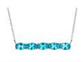 Finejewelers Sterling Silver Necklace Pendant with 5 Oval Coated Paraiba Topaz Stones