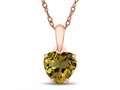 Finejewelers 10k Rose Gold 7mm Heart Shaped Citrine Pendant Necklace