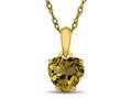 Finejewelers 10k Yellow Gold 7mm Heart Shaped Citrine Pendant Necklace
