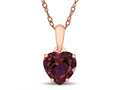 Finejewelers 10k Rose Gold 7mm Heart Shaped Created Ruby Pendant Necklace