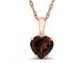 Finejewelers 10k Rose Gold 7mm Heart Shaped Garnet Pendant Necklace