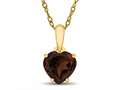 Finejewelers 10k Yellow Gold 7mm Heart Shaped Garnet Pendant Necklace