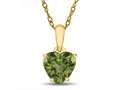 Finejewelers 10k Yellow Gold 7mm Heart Shaped Peridot Pendant Necklace