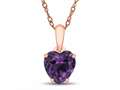 Finejewelers 10k Rose Gold 7mm Heart Shaped Simulated Alexandrite Pendant Necklace