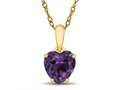 Finejewelers 10k Yellow Gold 7mm Heart Shaped Simulated Alexandrite Pendant Necklace