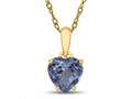 Finejewelers 10k Yellow Gold 7mm Heart Shaped Simulated Aquamarine Pendant Necklace