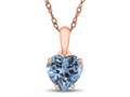 Finejewelers 10k Rose Gold 7mm Heart Shaped Swiss Blue Topaz Pendant Necklace