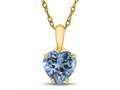 Finejewelers 10k Yellow Gold 7mm Heart Shaped Swiss Blue Topaz Pendant Necklace