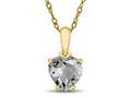 Finejewelers 10k Yellow Gold 7mm Heart Shaped White Topaz Pendant Necklace