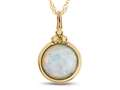 Finejewelers 8mm Round Bezel Set Created Opal Pendant Necklace - Chain Included