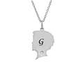 Finejewelers Boy Personalized Initial G Alphabet Pendant Necklace with CZ  16 to 18 Inch Adjustable Chain