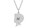Finejewelers Boy Personalized Initial H Alphabet Pendant Necklace with CZ  16 to 18 Inch Adjustable Chain