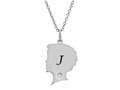 Finejewelers Boy Personalized Initial J Alphabet Pendant Necklace with CZ  16 to 18 Inch Adjustable Chain