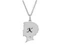 Finejewelers Boy Personalized Initial K Alphabet Pendant Necklace with CZ  16 to 18 Inch Adjustable Chain