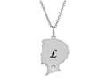 Finejewelers Boy Personalized Initial L Alphabet Pendant Necklace with CZ  16 to 18 Inch Adjustable Chain