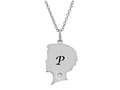 Finejewelers Boy Personalized Initial P Alphabet Pendant Necklace with CZ  16 to 18 Inch Adjustable Chain