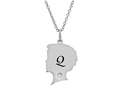 Finejewelers Boy Personalized Initial Q Alphabet Pendant Necklace with CZ  16 to 18 Inch Adjustable Chain