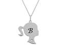 Finejewelers Girl Personalized Initial B Alphabet Pendant Necklace with CZ  16 -18 Inch Adjustable Chain